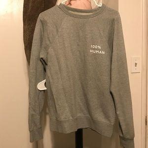 Everlane 100% human gray sweatshirt